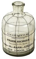 Glass Vintage Inspired Cough Mixture Roosa Bottle Decorative Ornament